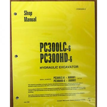 Komatsu Uruguay  PC300HD-6, PC300LC-6 Service Repair Printed Manual