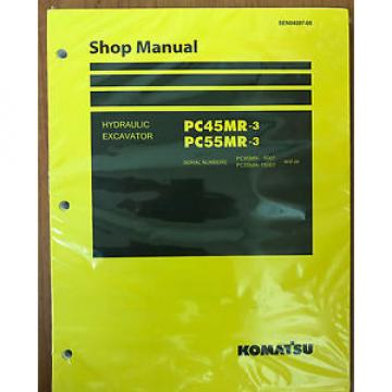 Komatsu Rep.  Service PC45MR-3, PC55MR-3 Excavator Shop Manual NEW #1