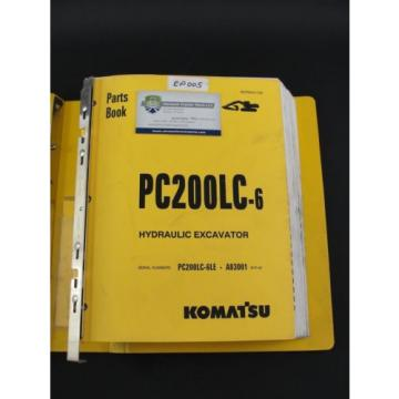 Komatsu Solomon Is  PC200LC-6 excavator parts book manual BEPB001700