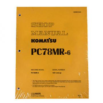 Komatsu Honduras  Service PC78MR-6 Excavator Shop Repair Manual