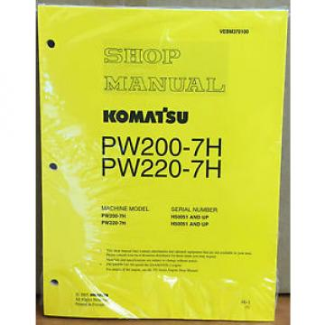 Komatsu Gibraltar  Service PW200-7H PW220-7H Excavator Shop Manual NEW REPAIR BOOK