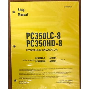 Komatsu Slovenia  PC350HD-8 PC350LC-8 Service Repair Printed Manual