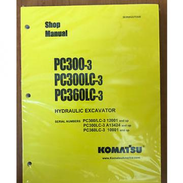 KOMATSU Gibraltar  PC300-3 PC300LC-3 PC360LC-3 Excavator Shop Manual / Repair Service