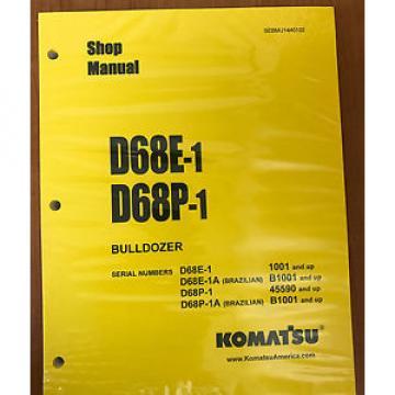 Komatsu Niger D68E-1,D68P-1 Crawler Tractor Dozer Bulldozer Shop Repair Service Manual