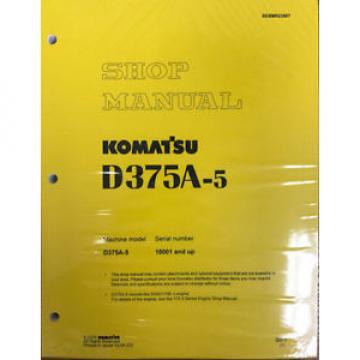 Komatsu Botswana D375A-5 Service Repair Workshop Printed Manual