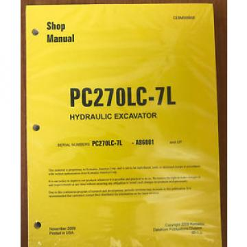 Komatsu Rep.  Service PC270LC-7L Shop Repair Manual NEW