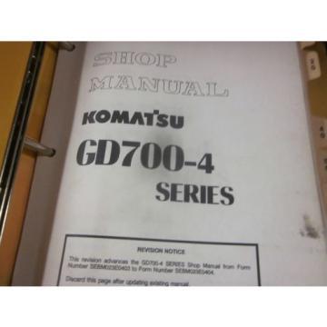 Komatsu Burma GD700-4 Motor Grader Shop Manual