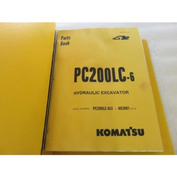 Komatsu Uruguay  - PC200LC-6 - Hydraulic Excavator Parts Manual BEPB001702