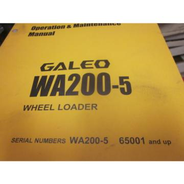 Komatsu Swaziland  WA200-5 Wheel Loader Operation & Maintenance Manual