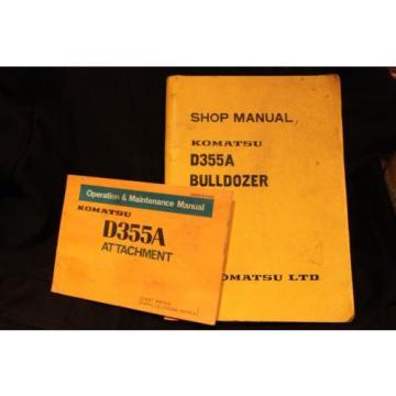 Komatsu Swaziland attachment book shop Manual Catalog dozer crawler D355A