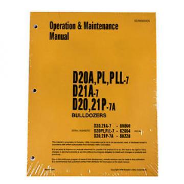 Komatsu Botswana D20A,PL,PLL Dozer Operation & Maintenance Manual