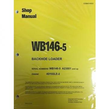 Komatsu Mauritius WB146-5 Backhoe Loader Shop Manual Repair Loader A23001 AND UP SERIAL