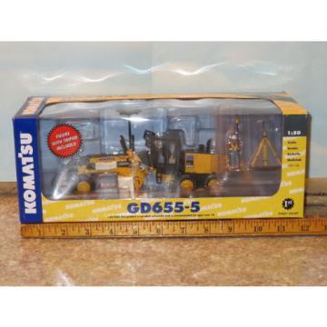 Komatsu Guyana GD655 Motor Grader w/Ripper & GPS Base First Gear 1/50 NIB