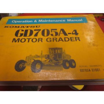 Komatsu Slovenia GD705A-4 Motor Grader Operation & Maintenance Manual