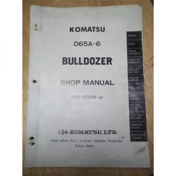 Komatsu Barbados Shop/Service Manual~D65A-6 Bulldozer