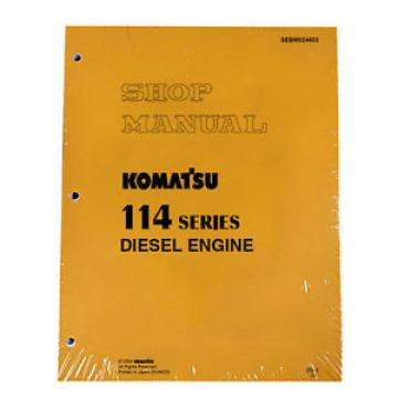 Komatsu Uruguay 114 Series Diesel Engine Service Workshop Printed Manual