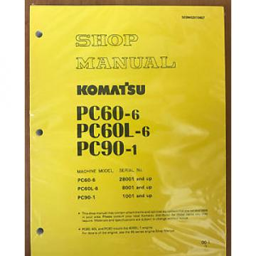 Komatsu Uruguay  PC60-6 60L- PC90-1 REPAIR SERVICE MANUAL EXCAVATOR