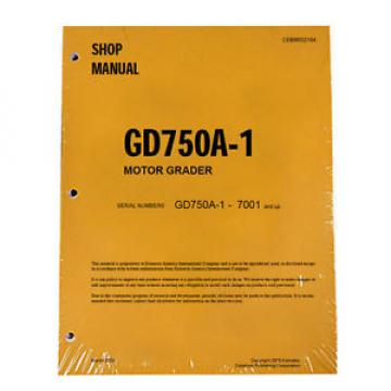 Komatsu Barbuda  Service GD750A-1 Series Mobile Grader Printed Manual