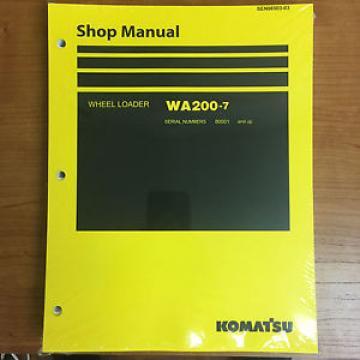 Komatsu SamoaEastern WA200-7 Wheel Loader Shop Service Repair Manual