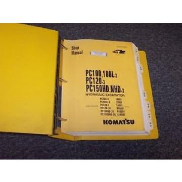 Komatsu Guinea PC100-3 PC100L-3 PC120-3 Hydraulic Excavator Shop Service Repair Manual