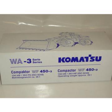 Conrad Gibraltar Komatsu Compactor WF 450-3 Neu NEW ORIGINAL BOX 1:50