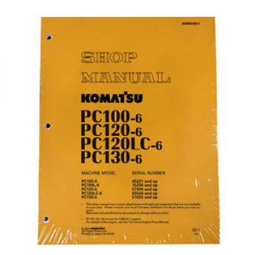 Komatsu Uruguay  Service PC120LC-6, PC130-6 Shop Manual NEW