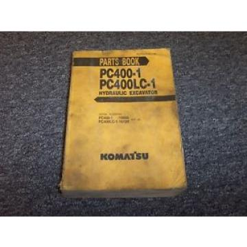 Komatsu Ecuador  PC400-1 PC400LC-1 Hydraulic Excavator Original Parts Catalog Manual Book