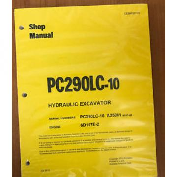 Komatsu Brazil  PC290LC-10 Hydraulic Excavator Shop Repair Service Manual