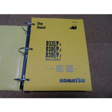 Komatsu Barbados D32E/P-1, D38E/P-1, D39E/P-1 Dozer Bulldozer Service Shop Repair Manual