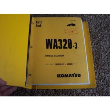 Komatsu Bahamas  WA320-3 Wheel Loader WA320-3LE A30001- Factory Parts Catalog Manual