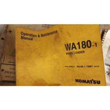 Komatsu Oman WA180-1 Wheel Loader Operation & Maintenance Manual