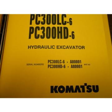 KOMATSU United States of America  PC300 LC & PC300 HD HYDRAULIC EXCAVATOR Parts Book
