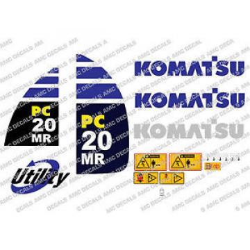 KOMATSU Haiti PC20MR DIGGER DECAL STICKER SET