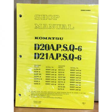 Komatsu CostaRica D20A-6. D20P-6. D20S-6, D21A-6. D21P-6,  Bulldozer Shop Service Manual